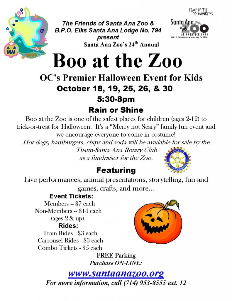 Boo-at-the-Zoo Weekend - 17th Annual @ Santa Ana Zoo at Prentice Park | Santa Ana | California | United States